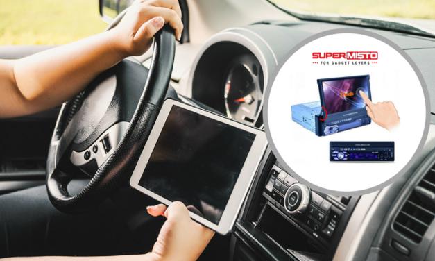 Radio de mașină SF – TouchScreen (rabatabil!!) cât o Tabletă, Bluetooth și player Audio/video Universal (SD card & USB stick)