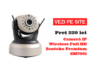 Cameră IP Wireless Full HD Zenteko Premium SM7001