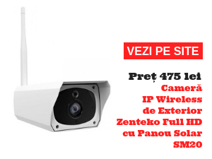 Cameră IP Wireless de Exterior Zenteko Full HD cu Panou Solar SM20